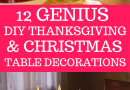 diy thanksgiving christmas table decorations
