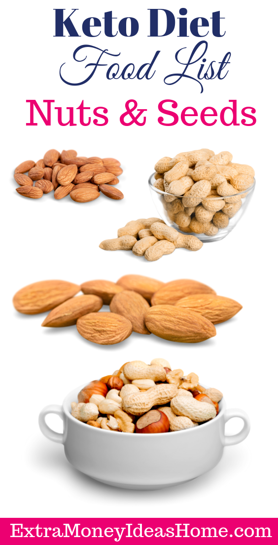 keto diet food list nuts and seeds