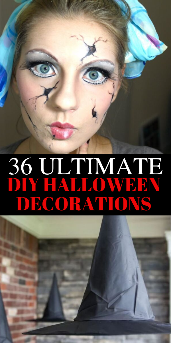 36 Ultimate DIY Halloween decorations for 2019, scary Halloween home decorations, dollar store Halloween decorations, cheap Halloween decorations, Halloween home decorations. These ultimate DIY Halloween decorations will blow you away. The ultimate dollar store DIY Halloween decorations that are super scary and cheap. #halloween #diy #scary #spooky #halloweendecorations #homedecor #halloweendiy #halloweenideas #2019 #2019halloween
