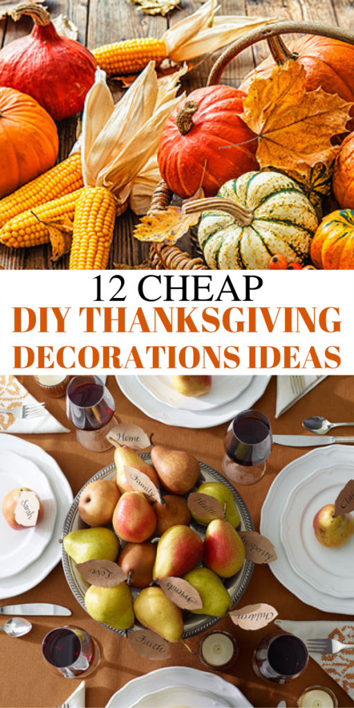12 Cheap and easy DIY thanksgiving decorations ideas. Looking for dollar store DIY Thanksgiving decorations ideas? In this post, I will show you 12 ULTIMATE DIY dollar store Thanksgiving decorations ideas that are so cheap and easy. These DIY Thanksgiving decor ideas must be pinned because they will wow your guests #thanksgiving #DIY #decor #homedecor #thanksgivingdecor #dollarstore #crafts #cheap #cheapdecor