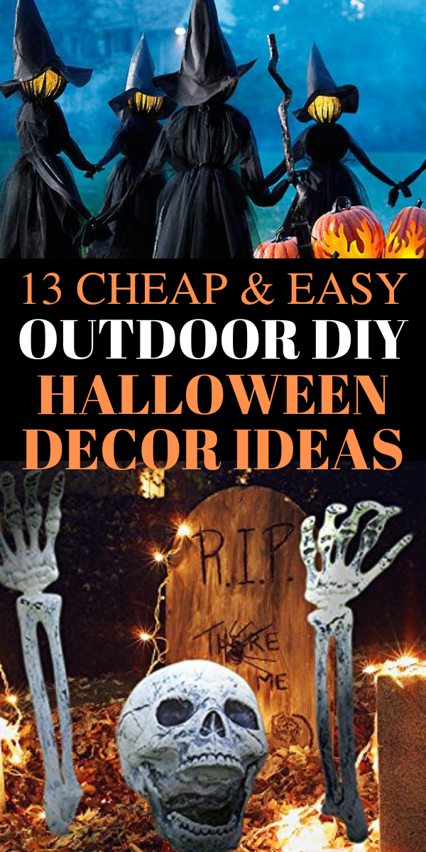 outdoor halloween decorations DIY ideas - Looking for the BEST outdoor Halloween decorations ideas? In this post, I will SHOW you stunning outdoor Halloween decorations DIY ideas, simple DIY Halloween decorations ideas, cheap and easy outdoor Halloween decorations DIY ideas, Fall Halloween decorations DIY ideas, best outdoor Halloween ideas, dollar store Halloween decor ideas, and more. #halloween #diy #decor #halloweendecorations #DIYideas #homedecor #Halloweendecor #falldecor #falldecorations