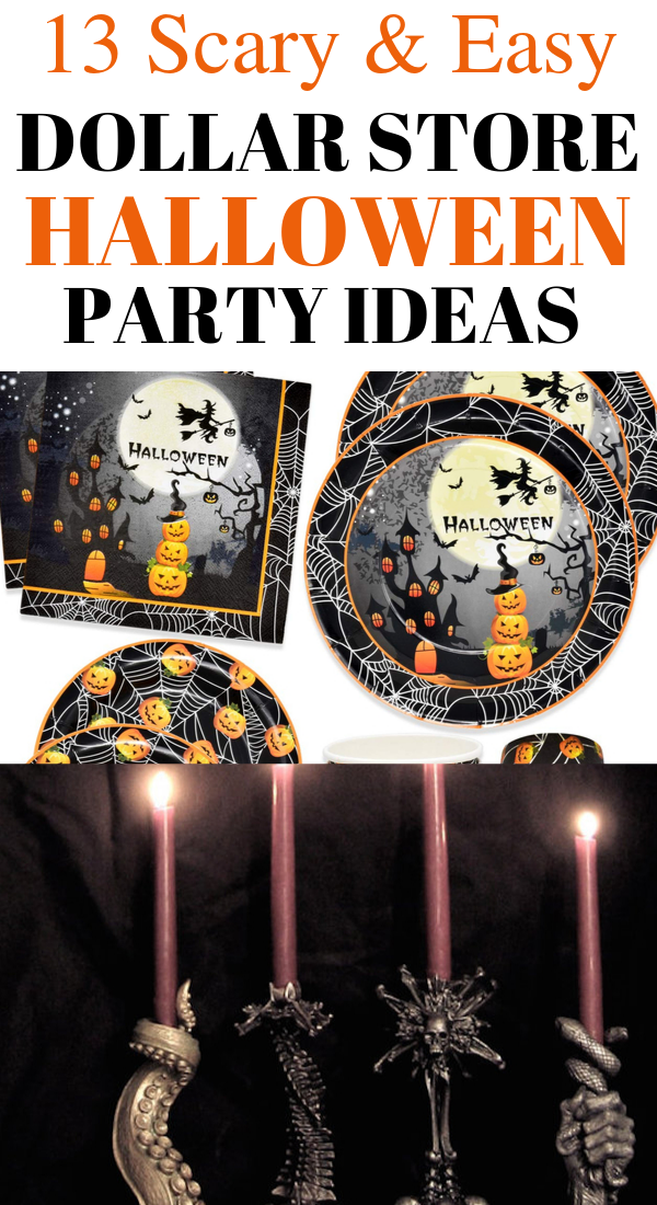 13 Cheap dollar store halloween party ideas. 13 Super scary and easy dollar store halloween party ideas. Looking for cheap and easy Halloween party ideas? In this post, I will show you 13 frugal and easy dollar store Halloween party ideas that you can DIY for less. You can buy these Halloween party items in your local dollar store. #halloween #easy #diy #scary #spooky #cheap #dollarstore #fall #halloweenideas #halloweenparty #halloweendecor #halloweendecorations
