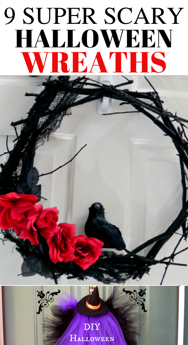 9 Scary Halloween wreaths that will wow your guests, best Halloween wreaths, ultimate Halloween wreaths, easy and scary Halloween wreaths #halloween #wreaths #Haloween2019 #halloweendecor #halloweendecorations #spooky #scary #diy #homedecor #halloweencrafts
