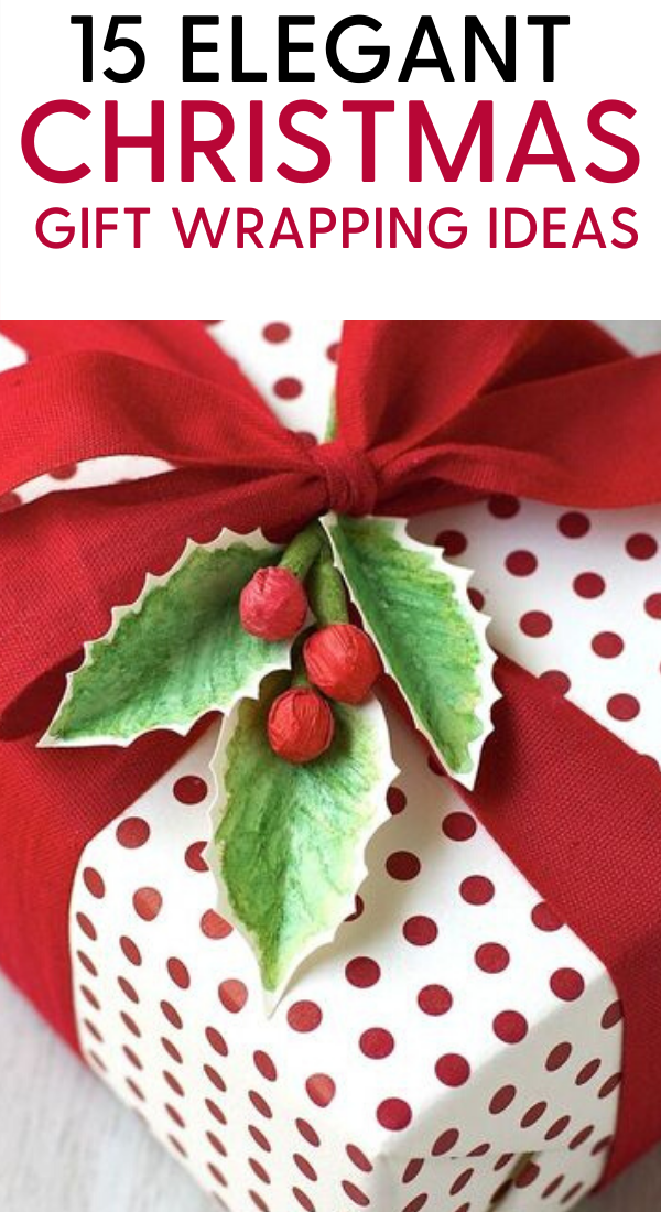 15 creative christmas gift wrapping ideas. 15 Elegant Christmas gift ideas that will charm your family and friends. You must definately pin this Christmas gift wrapping idea for later. Best gift wrapping ideas for your Christmas and holiday gifts #gifts #christmas #holidays #xmas #giftideas #wrapping #christmasgifts #christmaspresents #christmashacks #holidaysgifts