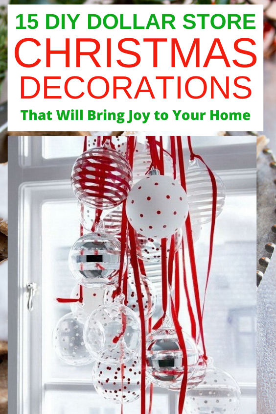 Looking for the Best DIY Dollar Store Christmas Decorations?  Relax, I have 15 cheap and easy DIY Dollar Store Christmas Decorations that will bring so much joy to your home. #christmas #decor #homedecor #diy #decor #xmas #dollarstore #easy #cheap