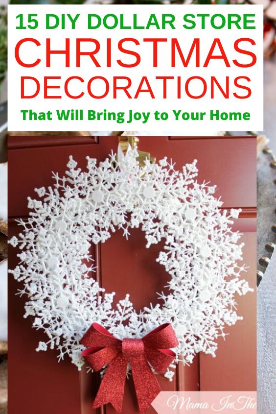 15 Best DIY Dollar Store Christmas Decorations