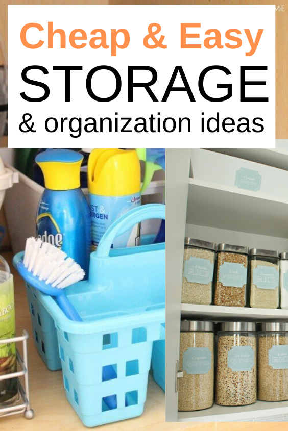 15 Dollar Store Organization and Storage Ideas