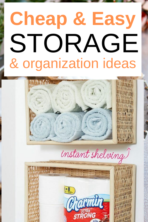 15 Dollar Store Organization and Storage Ideas for your entire home. Do you want to declutter your home and add new styles and ideas? These storage and organization hacks will show you how #storage #declutter #organization #space #organize #minimalism #minimalist #homedecor #decor